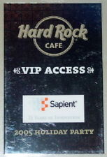 Hard Rock Cafe 2005 HRC Holiday Party LAMINATE  Sapient 15 Years of Innovation