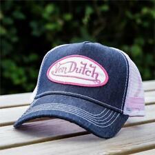 Mens Von Dutch Trucker Cap Denim/Pink VDHT91 (G1) RRP £29.99