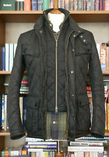£189 Mens Barbour International Windshield black quilted jacket size Small XS 34