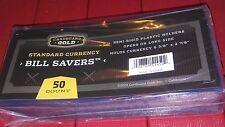 20 New CBG BILL Saver 1 I  Standard US Currency Note Holders Semi Rigid