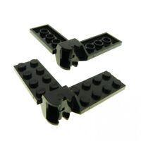 2 x Lego System Scharnier Platte schwarz 2x4 Gelenk Paar komplett M-Tron Futuron