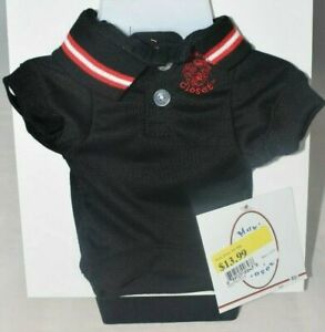 Max's Closet - Black Polo Shirt w/Red Trim (Pet, Dog) Large