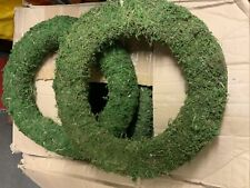 2 X Mossed padded wreath rings ... Very easy to use 14""