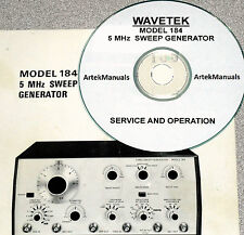 WAVETEK 184 5MHz Sweep Genrator: Operating & Service Manual w/Schematics