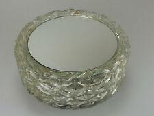 60er 70er Jahre Lampe Bleikristall Deckenlampe mit Spiegel Bubble Leuchte Design