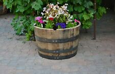 1/2  Oak barrel planter Whiskey/ Handmade