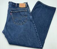 Mens Levis 517 Boot Cut Blue Jeans Pants Red Tab Denim Silver Button Size 40-30
