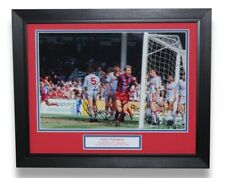 More details for crystal palace alan pardew framed 1990 fa cup semi goal signed photo display coa