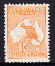 Kangaroo - 4d Orange fresh Mint Unhinged ACSC 15C, Cat $1000