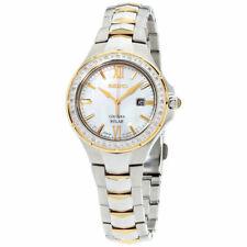 Seiko Ladies Coutura 24 Diamond Solar Dress Watch Silver/Gold Tone