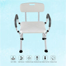 Adjustable LightWeight Medical Shower Chair Bench Aid Stool Bath Seat Arm rest
