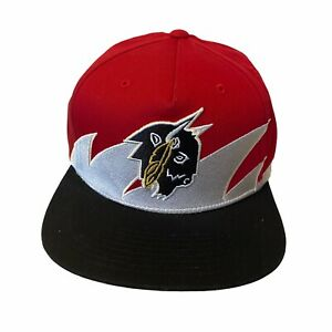 10 Deep Chieftain Hat Cap Embroidered Red Black Snap Back