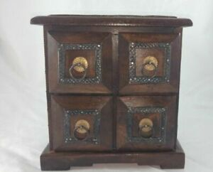 Handmade Wooden Beautiful Chest Of Drawers ,Metal & Brass Decorated Drawers