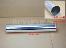 "2.5"" Straight Aluminum Turbo Intercooler Tube Pipe Length 23.5"" Polished"