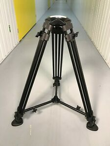 Generic 100mm bowl single stage aluminium tripod legs (Like Sachtler) EXCELLENT