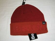 b900b9b68d85 Bench Unisex Cuffed Turn up Winter Beanie Hat Solid Autumn Red One Size