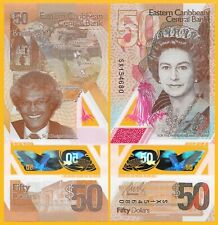 East Caribbean States 50 Dollars p-new 2019 Polymer Banknote UNC (counting mark)