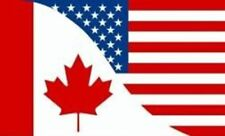 CANADA / USA COMBO 3 X 5 FEET LARGE COUNTRY FLAG BANNER ... CANADIAN (92 CM X 15