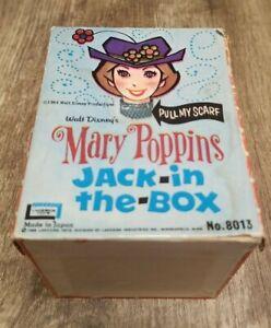 Vintage Disney Mary Poppins Jack In The Box 1966 Lakeside Bert Dick Van Dyke