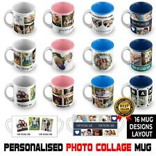 More details for personalised photo mug custom image collage text birthday gifts tea coffee mug