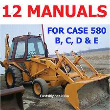 CASE 580 B, C, D, E LOADER BACKHOE CK SHOP SERVICE MANUALS OPERATOR PARTS CD/DVD