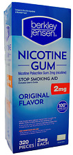 Berkley Jensen Nicotine Polacrilex Gum 2mg Original Stop Smoking Aid, 320 Pieces