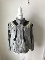 Jamie Sadock Jacket Women's Size M Olive Green Vest Detachable Sleeves Golf