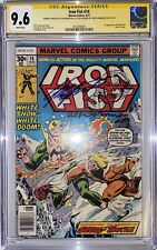 IRON FIST 14 CGC 9.6-1ST APPEARANCE SABRE-TOOTH SIGNED 2X & RARE MILGROM SKETCH!