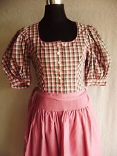 @ Chiemseer Dirndl @ Vestido rosa-verde Cuadro OKTOBERFEST Size L Talla 40 GB 14