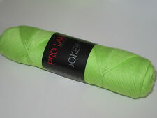 (5,00€/100g) 50g Lana Joker 8  Baumwolle Topflappengarn Farbe 238 hellgrün