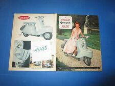 N°13483 / PEUGEOT dépliant couleur des  scooters S.57 . S.157  / 9.1955