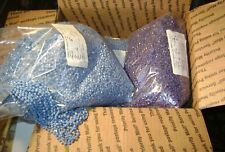 ~8 Lbs Vintage Fancy Faceted Blue Purple Threaded Beads - Assemblage Jewelry Art