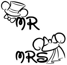 Disney Just Married Mr & Mrs Iron On Transfer- T-Shirt + Light & Dark Fabrics #2