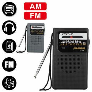 Mini Portable AM FM Radio w/ Pointer Design Receiver Player Stereo Parents' Gift