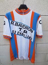 VINTAGE Maillot cycliste C.G CHAILLAND BAUDRON T.P trikot oldschool années 70 3