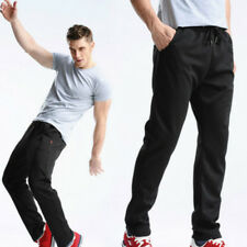 Men Running Pants Jogging Trousers Training Loose Straight Sport Pants Black New