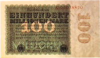 UNC 1923 Germany Weimar Republic 100.000.000 / 100 Million Mark Banknote