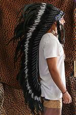 INDIAN HEADDRESS AMAZING FEATHERS Chief War bonnet Costume Native American
