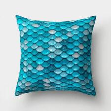 Mermaid Fish Scales Throw Pillow Case Sofa Cushion Cover Home Decor Gift 45x45cm