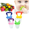 Baby Kid Vegetable Fruit Supplement Feeder Teething Toy Ring Chewable Soother AU