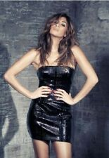 Nicole Scherzinger X Misguided Wet Look Croc Bandeau Dress, rrp £35 sz 8