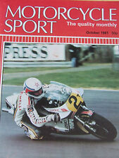 MOTORCYCLE SPORT OCT 1981 TIGER AND SQUIRE STANFORD HALL YAMTON ROYAL ENFIELD