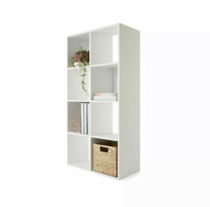 8 Cube Storage Shelf Cabinet Cupboard Organizer Bookshelf Display Unit Office