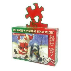 "Worlds Smallest puzzle - Christmas theme ""Santa's best friend"" 234 Jigsaw Pieces"