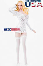 """1/6 Sexy Dress Brief Stockings Set For 12"""" PHICEN Hot Toys Female Figure U.S.A."""