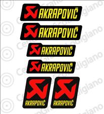 6x Adesivi Akrapovic bubble free universali moto scarico marmitta