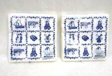 "Paper Napkins Holland Tiles Blue Delft Decoupage Craft 2 Sets of 20 New 6 1/2"" G"