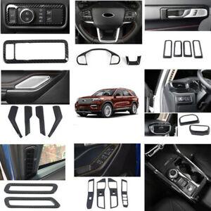 21pcs Carbon Fiber Interior Accessories Kit Covers for Ford Explorer 2020 2021