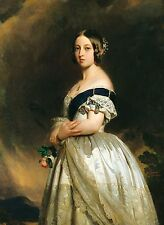 Victorian Matte Finish Postcard: Young Queen Victoria - 1840 - F. Winterhalter