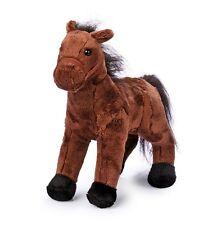 Peluche cavallo cavallino pony colore scuro, morbido, cm 26x25